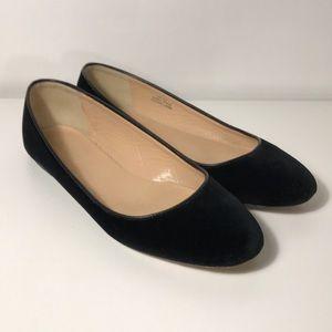 J.Crew Nora Black Velvet Ballet Flats - Size 6,5